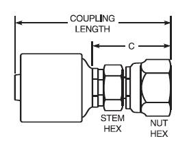 Gates MegaCrimp G25170-1010 Hose End Fitting 10G-10FJX