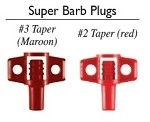 Riser Adapter Super Barb Plugs
