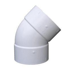 "PVC sch-40 Slip 45 degree Elbow (1/2"" - 2"")"